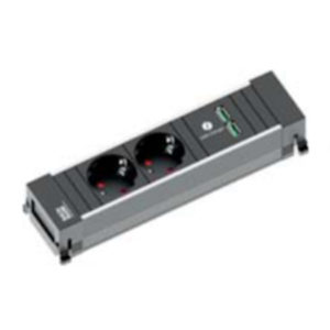 BACHMANN Power Frame 2x230V + 2xUSB charger RAL
