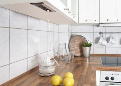 frame ramka zasilająca w kuchni