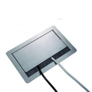 Evoline FlipTop Push 1x230V + 1xHDMI + 2xRJ45