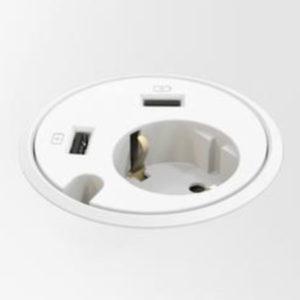 PowerDOT 1x230V + 2xUSB charger + PRZEPUST