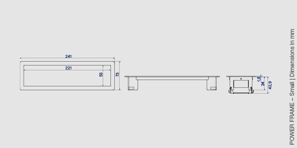listwa power frame montaż