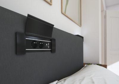 Bachmann power frame cover w sypialni