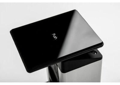 kolumna evoline port push czarne szkło