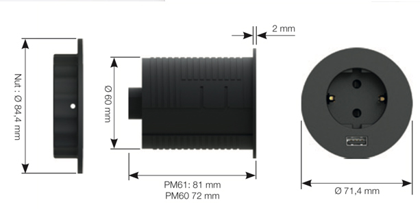 power dot montaż
